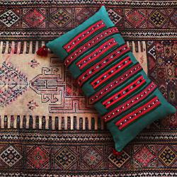 Tribal Hand Embroidery Pillow
