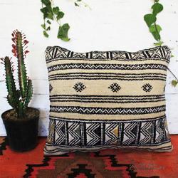 Tribal Minimal Rug Pillow Cover