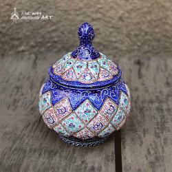 Hand Painted Sugar Bowl (Meenakari Enamel)