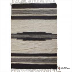 Minimalist tribal undyed wool Rug