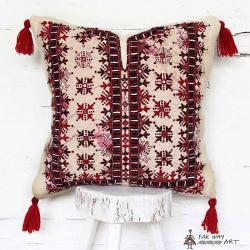 Tribal Mirror Embroidered Pillow