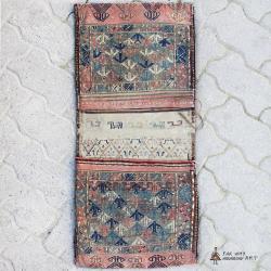 Antique Turkmen Nomad Saddle Bag Rug