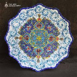 Persian Hand-painted Meenakari Plate