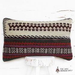 Minimal Tribal Lumbar Rug Pillow