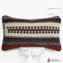 Tribal Lumbar Rug Pillow