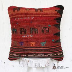 Tribal Kilim Pillow with animal motif no.2