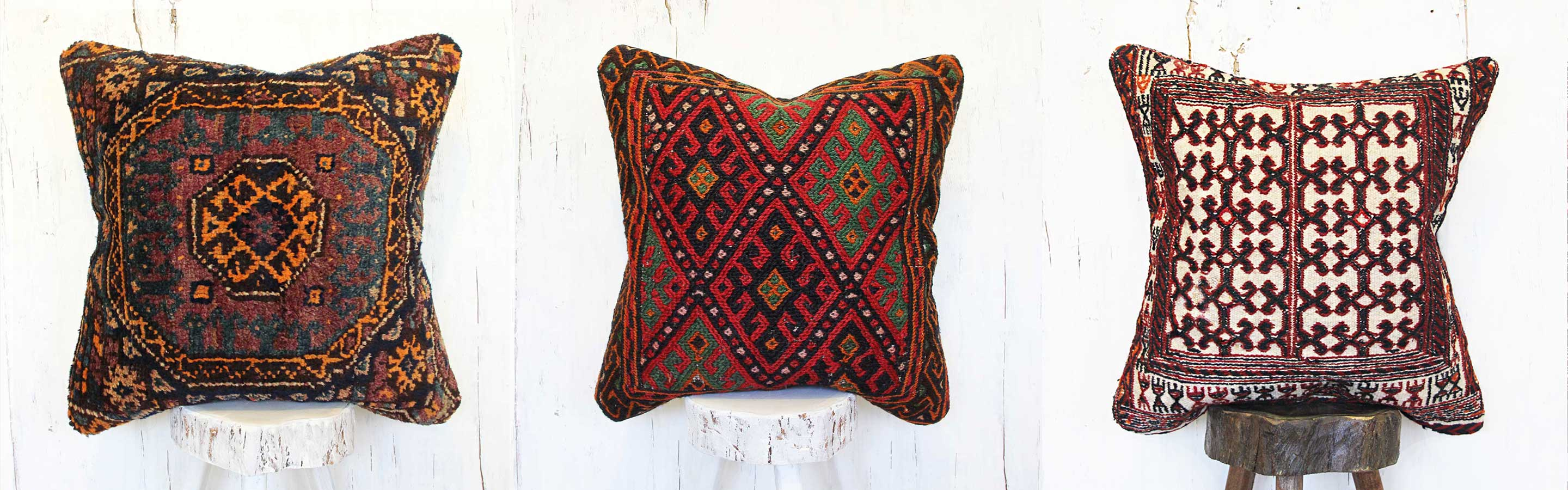 Rug pillows